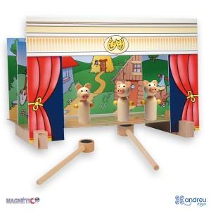 Andreu toys Магнитен куклен театър