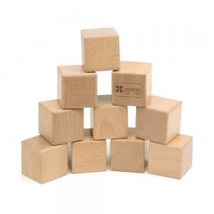 Andreu toys Дървени сензорни кубчета със звуци