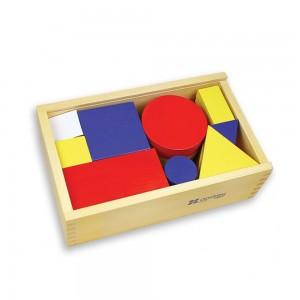 Andreu toys комплект дървени, геометрични блокчета
