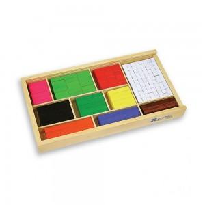 Andreu toys комплект дървени, математически блокчета