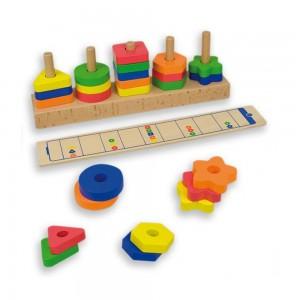 Andreu toys Дървена логическа игра - форми и цветове