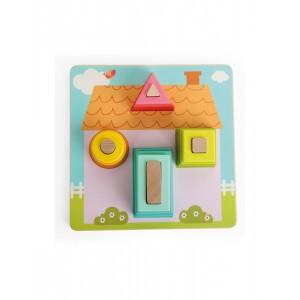 Andreu toys Низанка-пъзел с геометрични форми