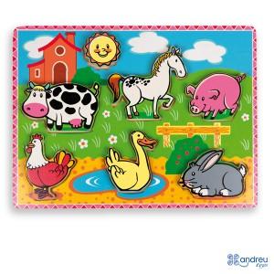 Andreu toys Моят първи пъзел Животните във фермата