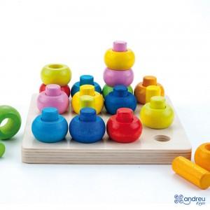 Andreu toys Дървена игра за сортиране и нанизване