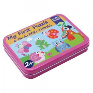 Andreu toys 6 пъзела в кутия Животни
