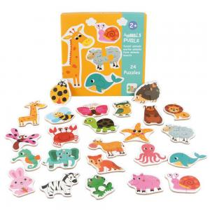 Andreu toys Комплект от 23 пъзела Животни