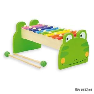 Andreu toys Дървен ксилофон жаба