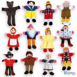 Andreu toys Комплект Кукли за пръсти за куклен театър