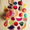 Плодове от картон за игра
