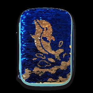 Ars Una Lucy Dolphin несесер с един цип на две нива с пайети