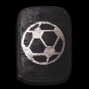 Ars Una Football Adventures несесер с един цип на две нива с пайети