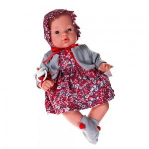 Asi Кукла-бебе Коке с рокля и шапка на цветя