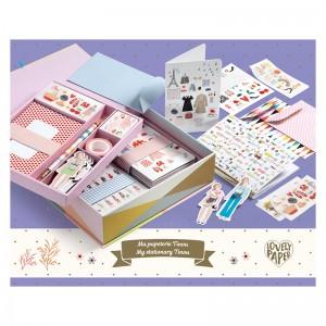 Djeco Комплект с картички, пликове и бележници