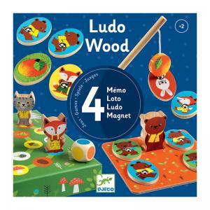 Djeco Комплект от 4 игри Ludo wood
