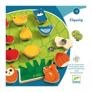 Djeco дървен пъзел с клипс Clipaclip