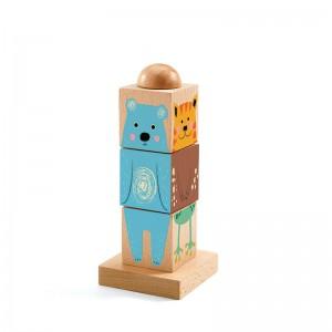 Djeco Дървени кубчета за нанизване и редене