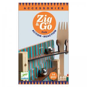 Djeco дървен конструктор Zig & Go Fork 14 части