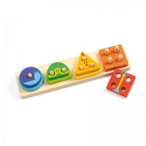 Djeco дървена игра за сортиране 1,2,3,4