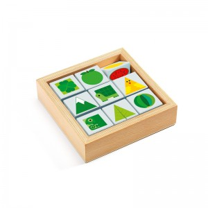 Djeco Дървени кубчета за сортиране