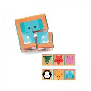 Djeco дървена игра за сортиране CubaBasic