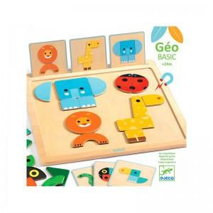 Djeco с магнитни карти GeoBasic