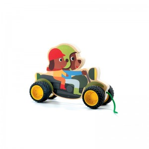 Djeco Дървена играчка за дърпане Terreno bike