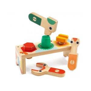 Djeco дървена играчка BRICOLOU