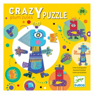 Djeco пъзел гигант Crazy puzzle Plum'Zules