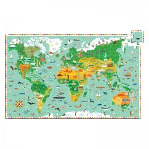 Djeco образователен пъзел обиколка около света
