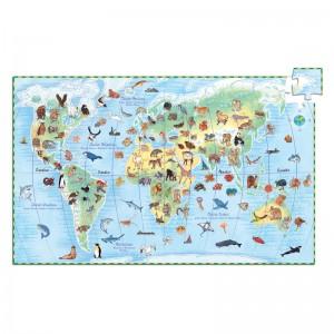 Djeco Пъзел животните по света