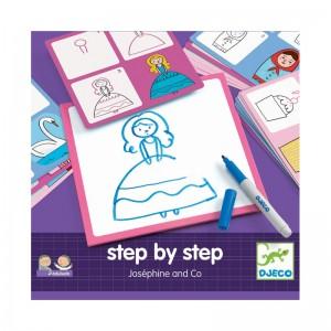 Djeco нарисувай стъпка по стъпка - момиче