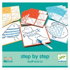 Djeco нарисувай стъпка по стъпка животни Graff & Co