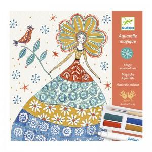 Djeco Комплект за рисуване Романтични цветя