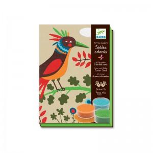 Djeco Комплект за рисуване с пясък birds of paradise