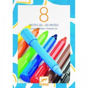 Djeco гел пастели 8 цвята