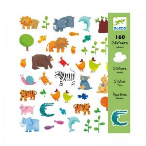 Djeco Комплект стикери Animals