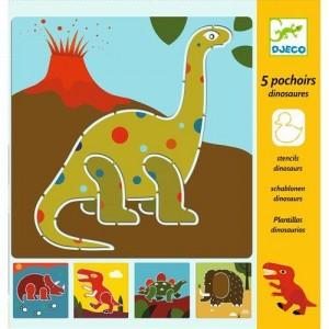 Djeco Шаблони за рисуване динозаври