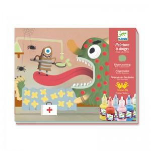 Djeco Комплект за оцветяване с пръсти Забавни създания