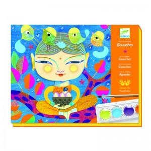 Djeco Комплект за оцветяване гваш - Индия