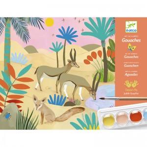 Djeco Комплект за рисуване с гваш бои Природа