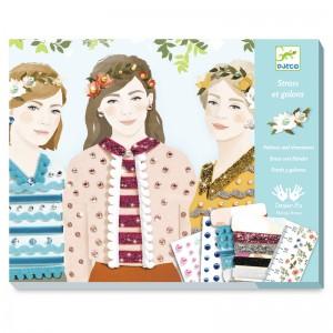 Djeco комплект картини за декорация момичета четири сезона
