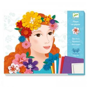 Djeco Картини с хартиени цветя