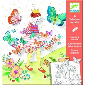Djeco Комплект картини изненада Lady butterfly