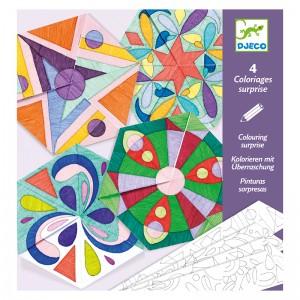 Djeco Комплект картини изненада Rosette mandalas
