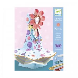 Djeco Комплект за сглобяване от хартия Mademoiselle Blossom