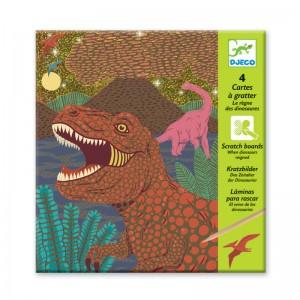 Djeco скреч карти в света на динозаврите