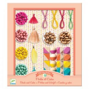 Djeco Комплект за изработка на бижута Beads and cubes