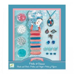 Djeco Комплект за изработка на бижута Pearls and birds