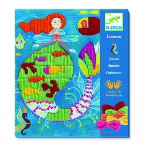 Djeco Картини за бродиране Mermaid