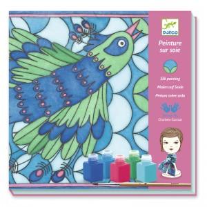 Djeco комплект за декорация на копринен шал Peacock